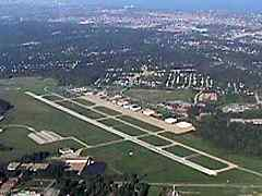 Aerial photo of KCGF (Cuyahoga County Airport)