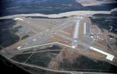 Aerial photo of PABI (Allen Army Airfield)