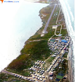 Aerial photo of PASH (Shishmaref Airport)