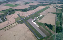 Aerial photo of KRPD (Rice Lake Regional Airport - Carl's Field)