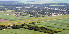Aerial photo of 2R1 (Le Maire Memorial Airport)