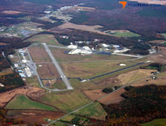Aerial photo of KGED (Delaware Coastal Airport)