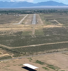 Aerial photo of KALS (San Luis Valley Regional Airport/Bergman Field)