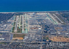 Aerial photo of KLAX (Los Angeles International Airport)