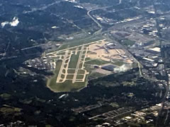 Aerial photo of KCLE (Cleveland-Hopkins International Airport)