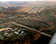 Aerial photo of KDOV (Dover Air Force Base)