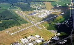 Aerial photo of KESN (Easton/Newnam Field Airport)