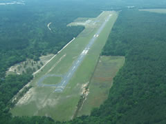 Aerial photo of KCWV (Claxton-Evans County Airport)