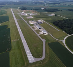 Aerial photo of KHNB (Huntingburg Airport)