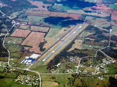 Aerial photo of KLUG (Ellington Airport)