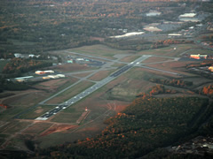 Aerial photo of KLYH (Lynchburg Regional Airport/Preston Glenn Field)