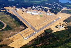 Aerial photo of KSHN (Sanderson Field Airport)