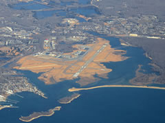 Aerial photo of KGON (Groton-New London Airport)