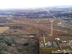 Aerial photo of KMOT (Minot International Airport)