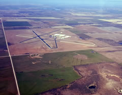 Aerial photo of KONY (Olney Municipal Airport)
