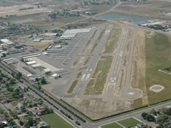Aerial photo of KFCH (Fresno Chandler Executive Airport)