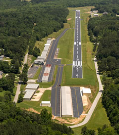 Aerial photo of KFGU (Collegedale Municipal Airport)