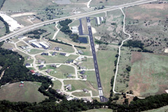 Aerial photo of 50F (Bourland Field Airport)