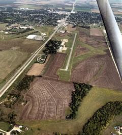 Aerial photo of KCNK (Blosser Municipal Airport)