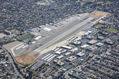 Aerial photo of KSMO (Santa Monica Municipal Airport)