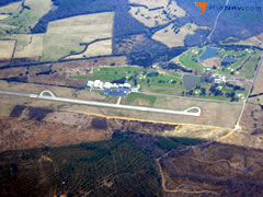 Aerial photo of KFVX (Farmville Regional Airport)