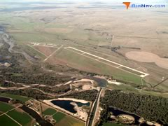 Aerial photo of KLBF (North Platte Regional Airport Lee Bird Field)