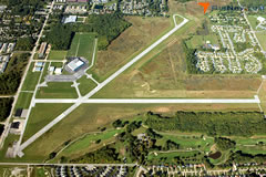 Aerial photo of KLNN (Willoughby Lost Nation Municipal Airport)