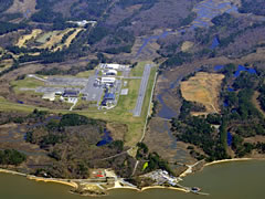 Aerial photo of KFAF (Felker Army Airfield)