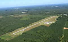 Aerial photo of W31 (Lunenburg County Airport)
