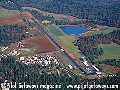 Aerial photo of 2O3 (Angwin Airport-Parrett Field)