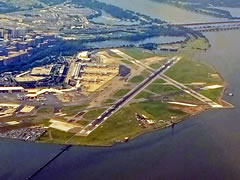 Aerial photo of KDCA (Ronald Reagan Washington National Airport)