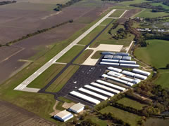 Aerial photo of KLNC (Lancaster Regional Airport)