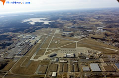 Aerial photo of KTIK (Tinker Air Force Base)