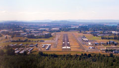 Aerial photo of KTTD (Portland-Troutdale Airport)