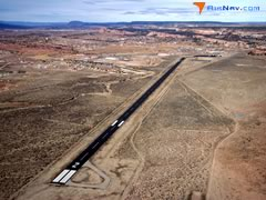 Aerial photo of KRQE (Window Rock Airport)