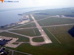 Aerial photo of KECG (Elizabeth City Coast Guard Air Station/Regional Airport)