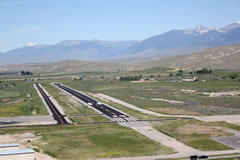 Aerial photo of KSMN (Lemhi County Airport)