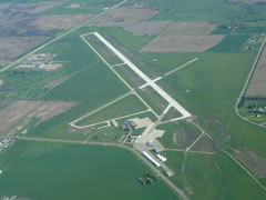 Aerial photo of KYKN (Chan Gurney Municipal Airport)