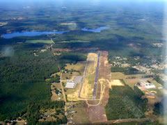 Aerial photo of KMNE (Minden Airport)