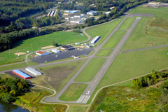 Aerial photo of KCZG (Tri-Cities Airport)