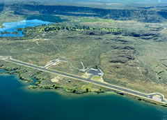 Aerial photo of 3W7 (Grand Coulee Dam Airport)
