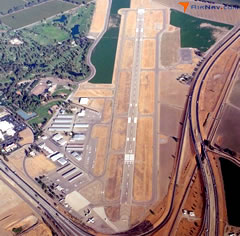 Aerial photo of KVIS (Visalia Municipal Airport)