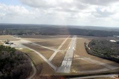 Aerial photo of KMAC (Macon Downtown Airport)