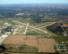 Aerial photo of KHUT (Hutchinson Regional Airport)