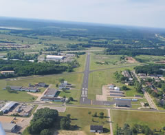 Aerial photo of C47 (Portage Municipal Airport)