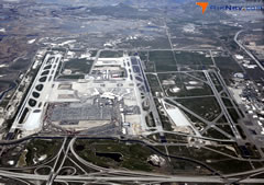 Aerial photo of KSLC (Salt Lake City International Airport)
