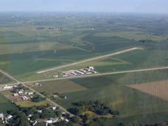 Aerial photo of KHNR (Harlan Municipal Airport)