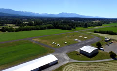 Aerial photo of W28 (Sequim Valley Airport)