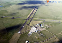 Aerial photo of KLAR (Laramie Regional Airport)