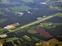 Aerial photo of KMFV (Accomack County Airport)